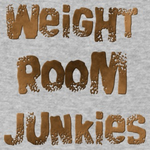 weight room junkies - Men's V-Neck T-Shirt by Canvas