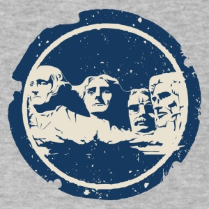 Mount Rushmore The Mount Rushmore National Monume - Men's V-Neck T-Shirt by Canvas