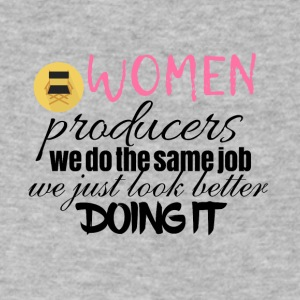 Women producers look better doing it - Men's V-Neck T-Shirt by Canvas