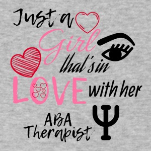 Just a girl that's in love with her ABA Therapist - Men's V-Neck T-Shirt by Canvas