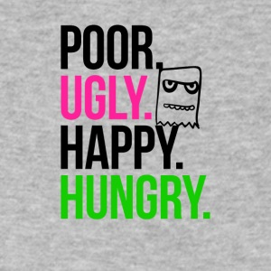 Poor Ugly Happy Hungry - Men's V-Neck T-Shirt by Canvas