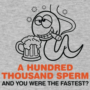 100,000 Sperm And You Were The Fastest ?! - Men's V-Neck T-Shirt by Canvas