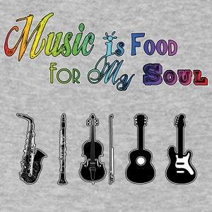 Music Is Food For My Soul - Instruments - Men's V-Neck T-Shirt by Canvas