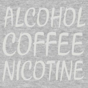 Alcohol Coffee Nicotine - Men's V-Neck T-Shirt by Canvas