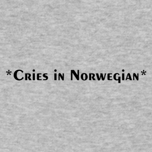 Cries in Norwegian (Skam) - Men's V-Neck T-Shirt by Canvas