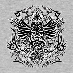 Tribal Owl - Men's V-Neck T-Shirt by Canvas
