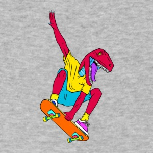 Skate Raptor, Skate raptor straight shredding - Men's V-Neck T-Shirt by Canvas
