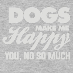 Dogs Make Me Happy You - Men's V-Neck T-Shirt by Canvas