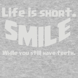 Life Short Smile Advice Wisdom - Men's V-Neck T-Shirt by Canvas