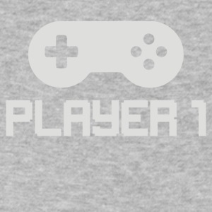 Player 1 - Men's V-Neck T-Shirt by Canvas