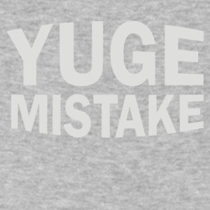 YUGE Mistake - Men's V-Neck T-Shirt by Canvas