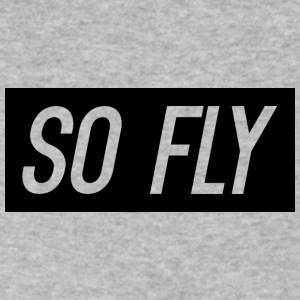 So Fly logo design - Men's V-Neck T-Shirt by Canvas