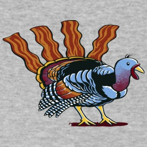 Turkey Bacon - Men's V-Neck T-Shirt by Canvas