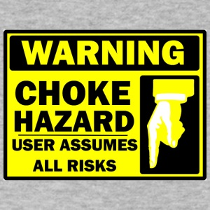 CHOKE WARNING - Men's V-Neck T-Shirt by Canvas