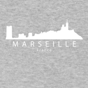 Marseille France Skyline - Men's V-Neck T-Shirt by Canvas