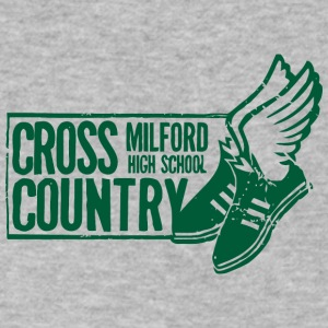 MILFORD HIGH SCHOOL CROSS COUNTRY - Men's V-Neck T-Shirt by Canvas