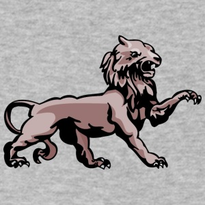 scary_lion_color - Men's V-Neck T-Shirt by Canvas