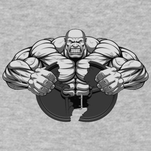 Strongman bodybuilder sport muscles shape vector - Men's V-Neck T-Shirt by Canvas