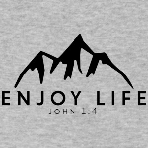 Enjoy Life Mountain - Men's V-Neck T-Shirt by Canvas