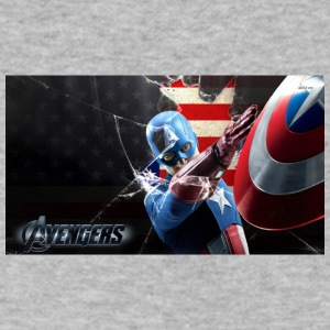 captain america the avengers tshirt - Men's V-Neck T-Shirt by Canvas