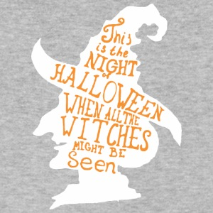 This Is The Night Halloween Witches Seen - Men's V-Neck T-Shirt by Canvas