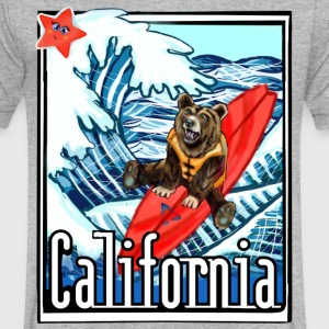 California Flag On Vacation - Men's V-Neck T-Shirt by Canvas