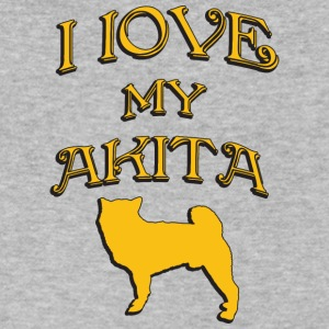 I love my dog AKITA - Men's V-Neck T-Shirt by Canvas