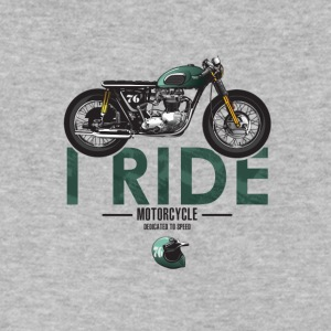 I Ride motorcycle for bikers - Men's V-Neck T-Shirt by Canvas
