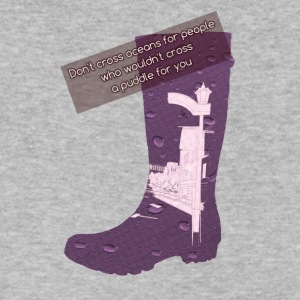 Gummy Boot lilac - Men's V-Neck T-Shirt by Canvas