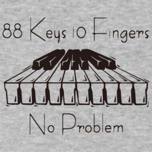 88keys 10fingers - Men's V-Neck T-Shirt by Canvas
