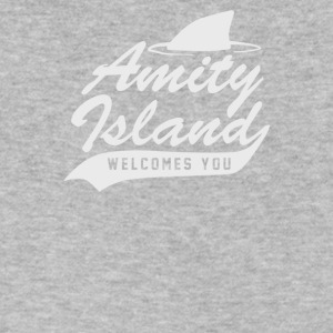 Amity Island - Men's V-Neck T-Shirt by Canvas