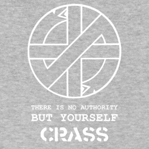Crass There Is No Authority But Yourself - Men's V-Neck T-Shirt by Canvas