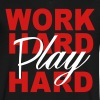WORK HARD PLAY HARD - Men's V-Neck T-Shirt by Canvas