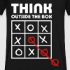 think outside box - Men's V-Neck T-Shirt by Canvas