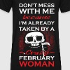 crazy February woman - Men's V-Neck T-Shirt by Canvas