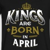Born Birthday Bday Kings April - Men's V-Neck T-Shirt by Canvas