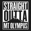 Straight Outta Mt Olympus - Men's V-Neck T-Shirt by Canvas