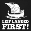 Viking - Leif Landed First - Men's V-Neck T-Shirt by Canvas