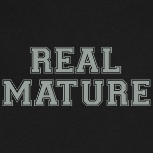 real mature - Men's V-Neck T-Shirt by Canvas