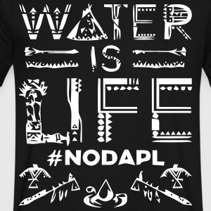 Water is Life #NoDAPL - Men's V-Neck T-Shirt by Canvas