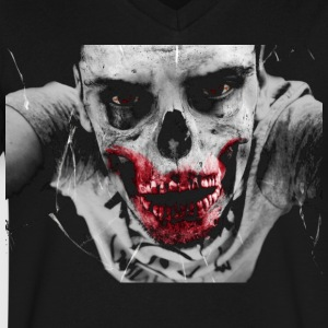 Zombie - Men's V-Neck T-Shirt by Canvas