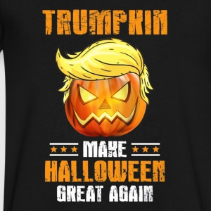 Trumpkin Funny Pumpkin Halloween - Men's V-Neck T-Shirt by Canvas