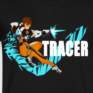 Tracer - Men's V-Neck T-Shirt by Canvas