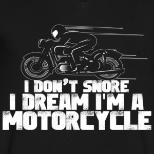 I Dream I m A Motorcycle - Men's V-Neck T-Shirt by Canvas