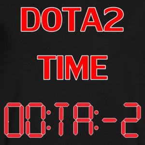 Dota2 time collection - Men's V-Neck T-Shirt by Canvas