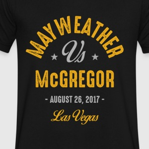 Mayweather vs McGregor Boxing - Men's V-Neck T-Shirt by Canvas