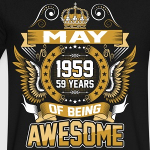 May 1959 59 Years Of Being Awesome - Men's V-Neck T-Shirt by Canvas