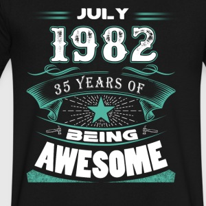 July 1982 - 35 years of being awesome - Men's V-Neck T-Shirt by Canvas