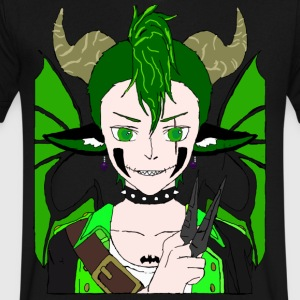 Anarchy punk demon by summer richey - Men's V-Neck T-Shirt by Canvas