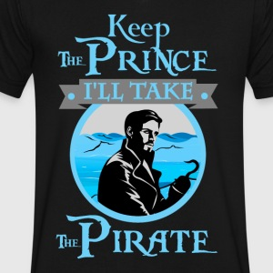 Keep The Prince, I'll Take The Pirate. - Men's V-Neck T-Shirt by Canvas